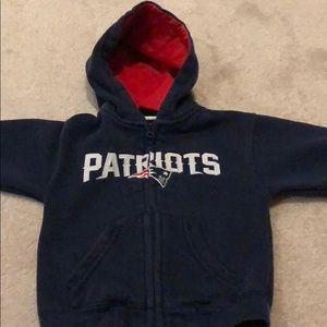 Other - New England Patriots zip up, hooded sweatshirt